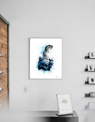 """Modèle avec l'illustration """"Marmota Marmota"""" (La marmotte) – de la série HelvEdition de Ka L-O-K   Graphic Arts"""