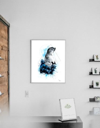 """Mock Up mit der Illustration """"Marmota Marmota"""" (Das Murmeltier) aus der Serie HelvEdition von Ka L-O-K   Graphic Arts"""