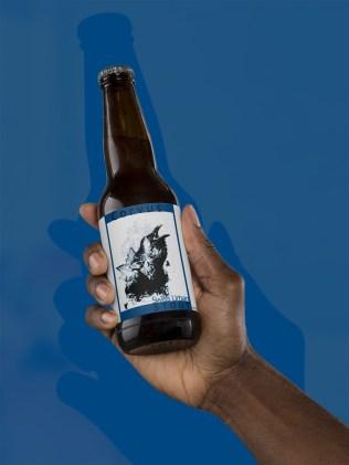 Idee für eine Bieretikette im HelvEdition Stil