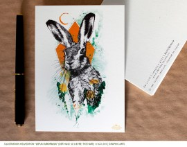 "Carte HelvEdition avec l'illustration ""Lepus Europaeus"" - Ka L-O-K 