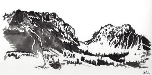 Ink Drawing by Ka L-O-K   Graphic Arts - Sichlepass