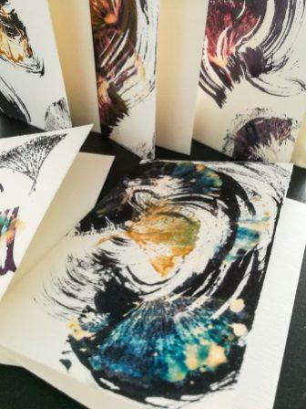 Folia Mystica Set de 5 cartes pliantes avec enveloppes