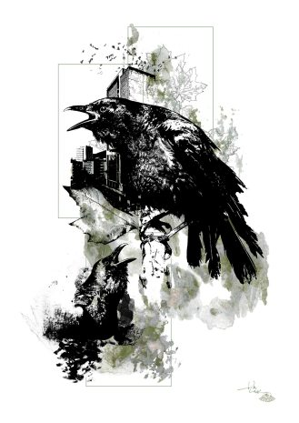 """Corvus Corvus"" (Crows) – HelvEdition by Ka L-O-K"
