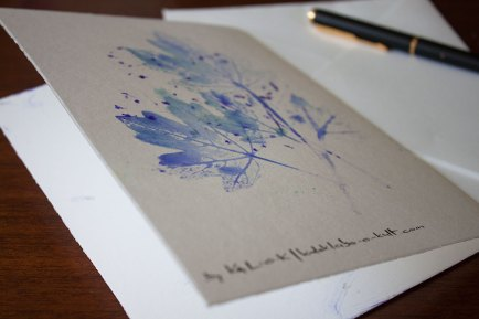 Folia Mystica - Manual Print on double card with deckled edge / Verso