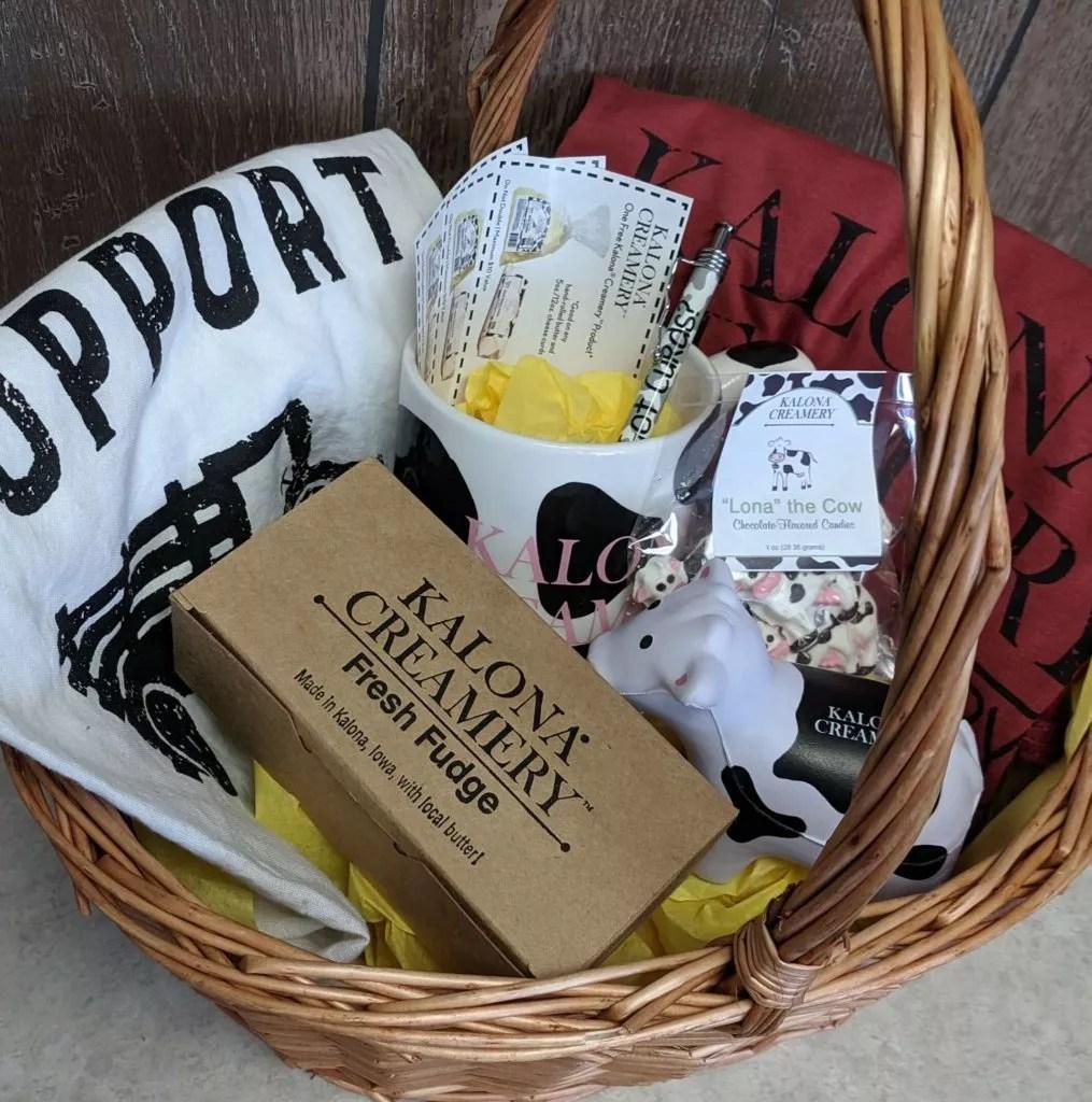 2019 Kalona Fall Festival fudge gift basket