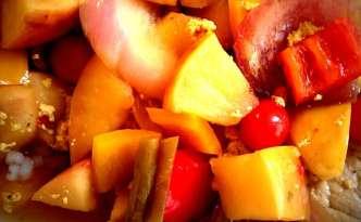Fadkoteletter med æbler
