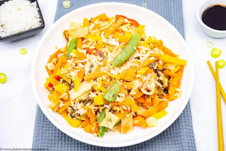 gebratener Reis gesunde kalorienarme Rezepte
