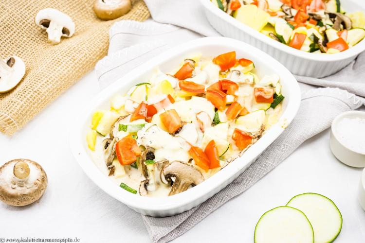 kalorienarme Mittagessen Rezepte Gemueseauflauf