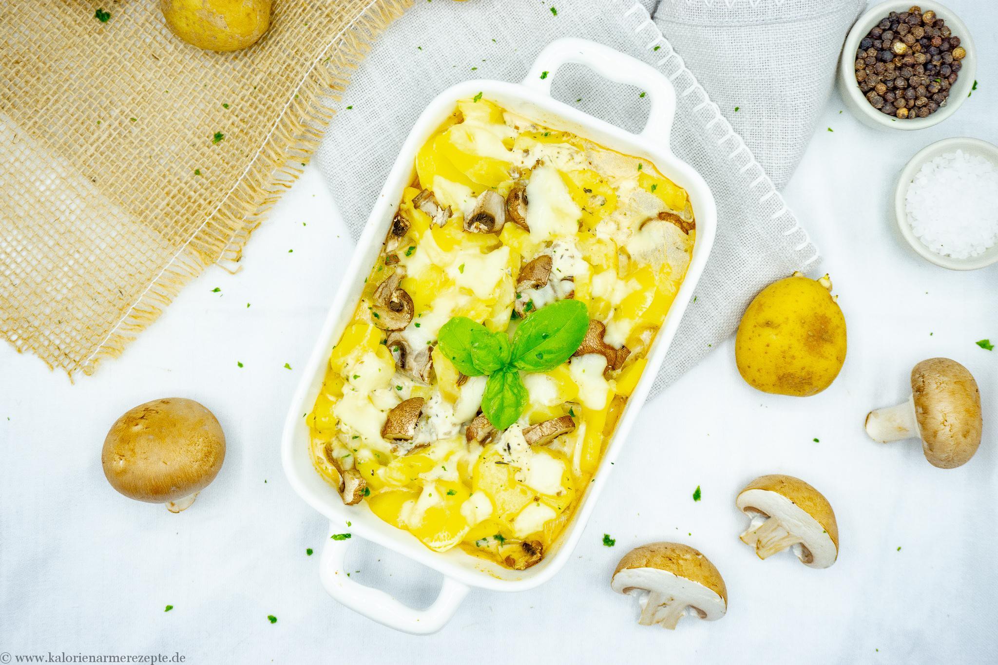 Kartoffel-Gemüse Gratin - Kalorienarme Rezepte