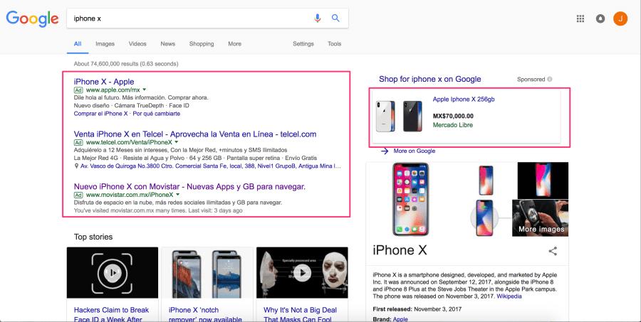ejemplos de sem en desktop - cómo usar google