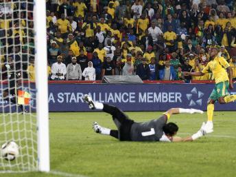 L'Afrique du Sud bat l'Egypte 1-0 en éliminatoires de la CAN 2012.