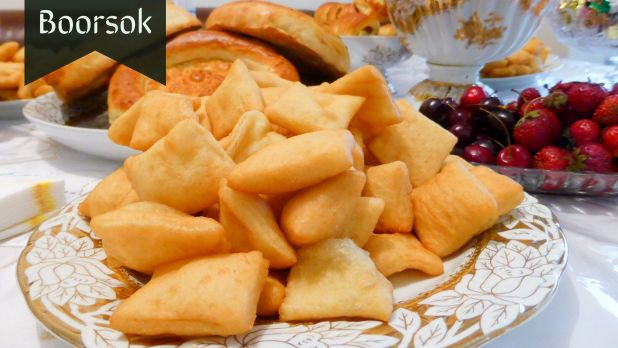 Fried Bread pieces in Central Asia