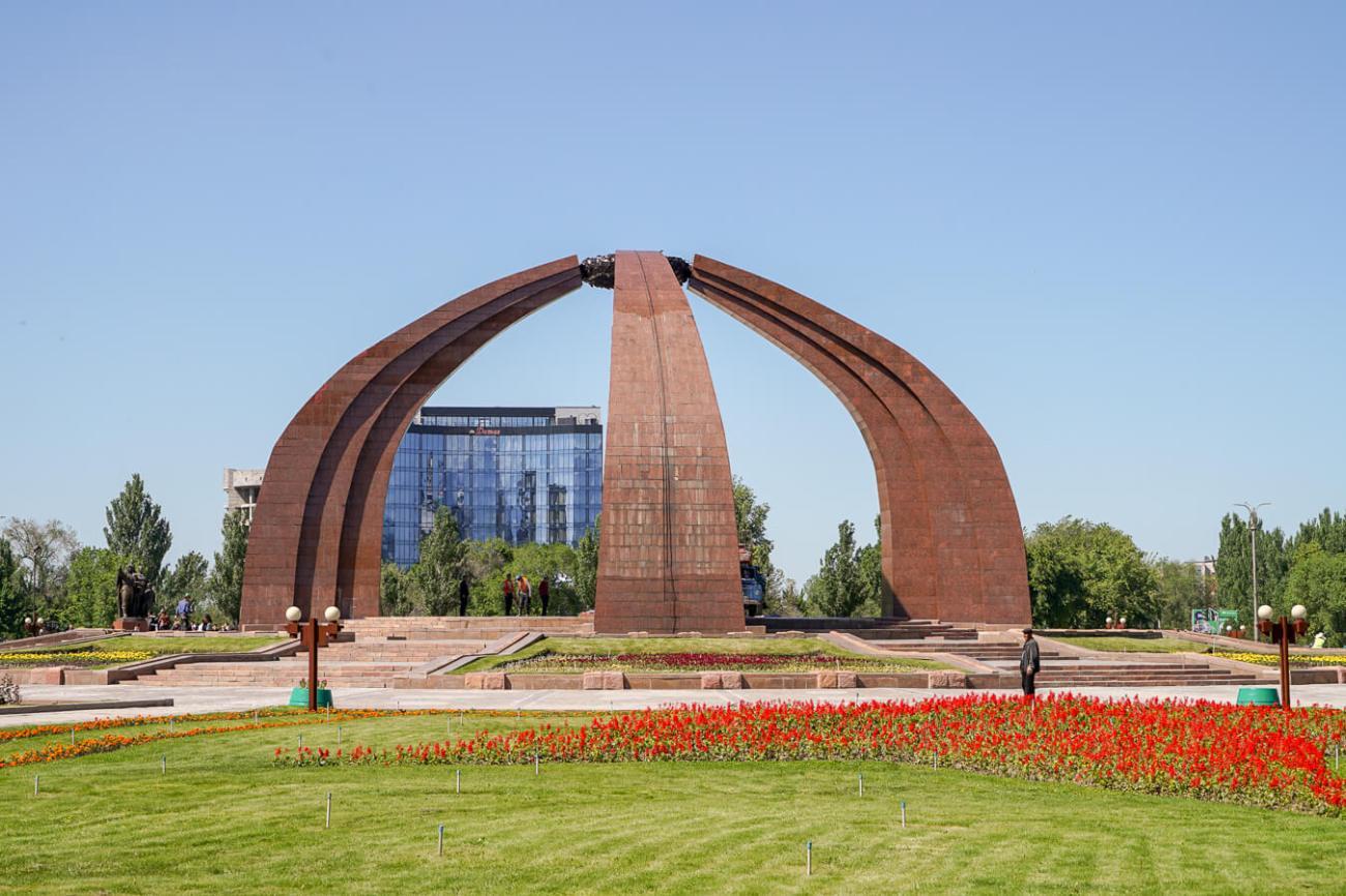 Bishkek victory square in Kyrgyzstan
