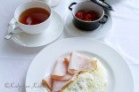 Vegetable omelet for breakfast at les Trois Couronnes