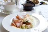Vegetable omelet for breakfast