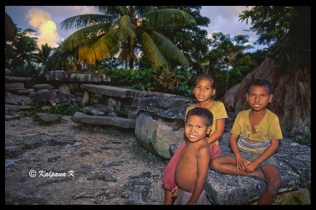 Village children from the island of Sumba