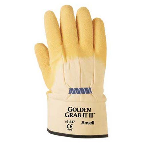 Distributor Ansell 16-312 Golden Grab-It II Heavy Multi Purpose Glove, Jual Ansell 16-312 Golden Grab-It II Heavy Multi Purpose Glove