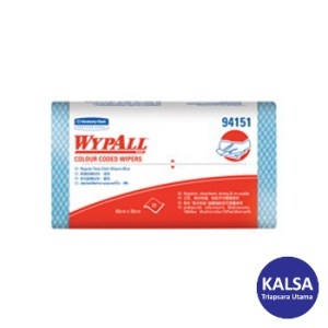 Kimberly Clark 94151 Blue Wypall Color Coded Wiper Regular Duty
