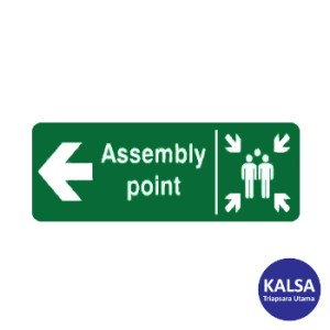 Safety Sign Assembly Point Left Direction Glow In The Dark with Aluminium Board