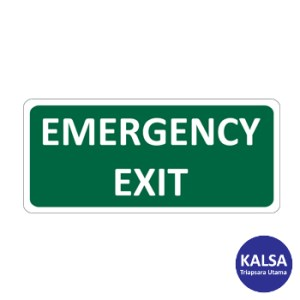 Safety Sign Emergency Exit Reflective with Aluminium Board