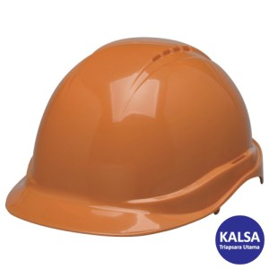 Elvex SC-50-6R Orange Tectra Safety Cap Non-Vented Head Protection