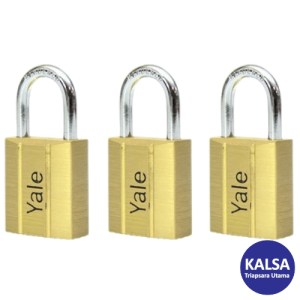 Yale V140.50KA3 V-Series Solid Brass Shackle 50 mm Security Padlock