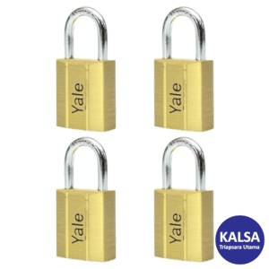 Yale V140.50KA4 V-Series Solid Brass Shackle 50 mm Security Padlock