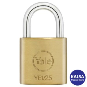 Yale YE1/25/113/1 Essential Series Indoor Brass Shackle 25 mm Security Padlock