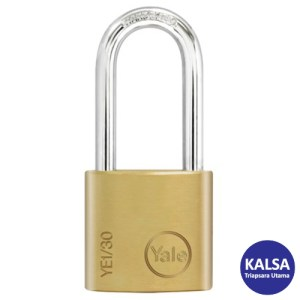 Yale YE1/30/132/1 Essential Series Indoor Brass Long Shackle 30 mm Security Padlock