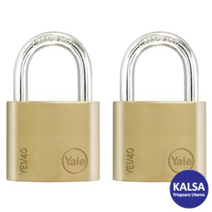 Yale YE1/40/122/2 Essential Series Indoor Brass Shackle 40 mm Security Padlock