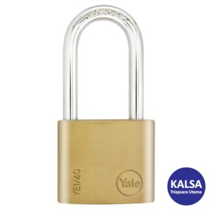 Yale YE1/40/140/1 Essential Series Indoor Brass Shackle 40 mm Security Padlock