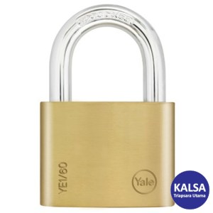 Yale YE1/60/132/1 Essential Series Indoor Brass Shackle 50 mm Security Padlock