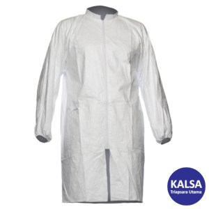 Dupont TY PL30 S WH 09 Tyvek 500 Labcoat with Zipper and Pocket