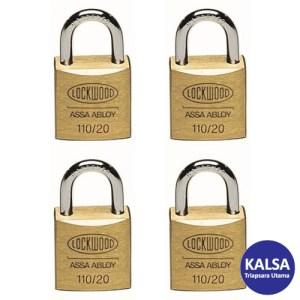 Lockwood 110/20/111/4DP Solid Brass 20 mm Security Padlock