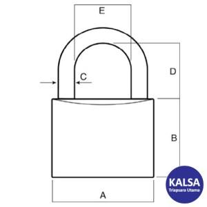 Lockwood 110/40/123/NDP Solid Brass 40 mm Security Padlock