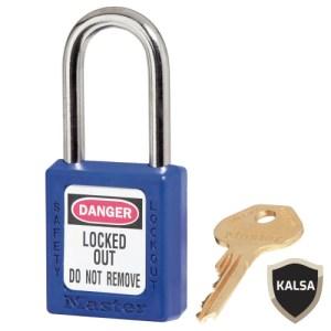 Master Lock 410KABLU Blue Keyed Alike Safety Padlock Zenex Thermoplastic