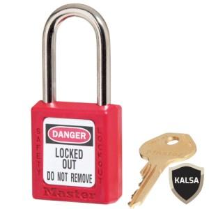 Master Lock 410KARED Keyed Alike Safety Padlock Zenex Thermoplastic