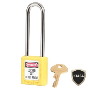 Master Lock 410LTYLW Yellow Keyed Different Safety Padlock Zenex Thermoplastic