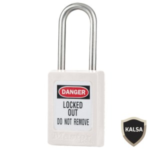 Master Lock S33KAWHT Keyed Alike Zenex Snap Lock Safety Padlock