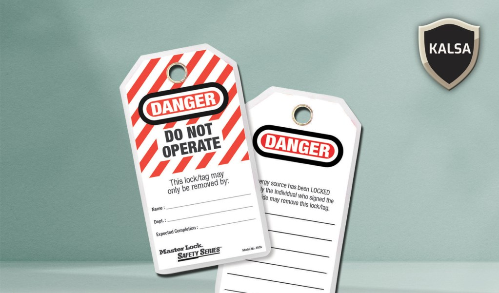 Safety Tag LOTO, Lock Out Tag Out