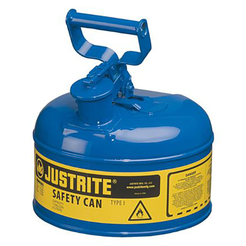 Distributor Justrite 7110300 Type I Blue Larger Capacity Trigger Safety Container