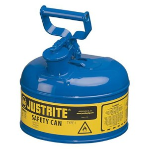 Justrite 7110300 Type I Blue Larger Capacity Trigger Safety Container