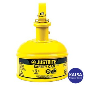 Justrite 10011 Type I Yellow Small Capacity Trigger Safety Container