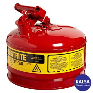 Justrite 7125100 Type I Red Larger Capacity Trigger Safety Container