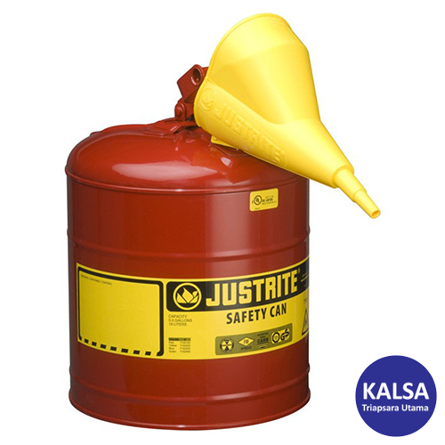 Distributor Justrite 7150110 Type I Red Larger Capacity Trigger Safety Container