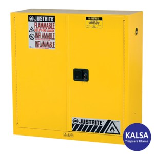 Justrite 893000 Yellow Industrial Safety Cabinet Sure Grip X