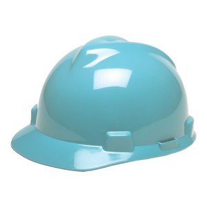 MSA Staz On V-Gard Caps Light Blue Head Protection