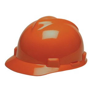 MSA Staz On V-Gard Caps Orange Head Protection