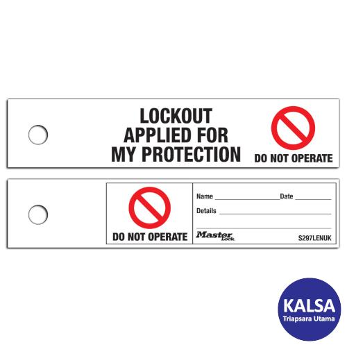 Distributor Master Lock S297LENUK Maintenance Lockout Safety Tags, Jual Master Lock S297LENUK Maintenance Lockout Safety Tags, Distributor LOTO S297LENUK Maintenance Lockout Safety Tags, Jual LOTO S297LENUK Maintenance Lockout Safety Tags