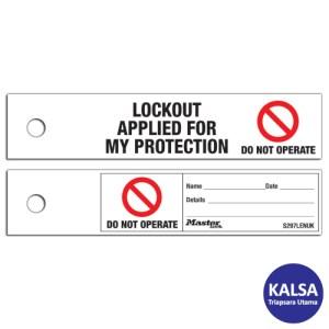 Master Lock S297LENUK Maintenance Lockout Safety Tags